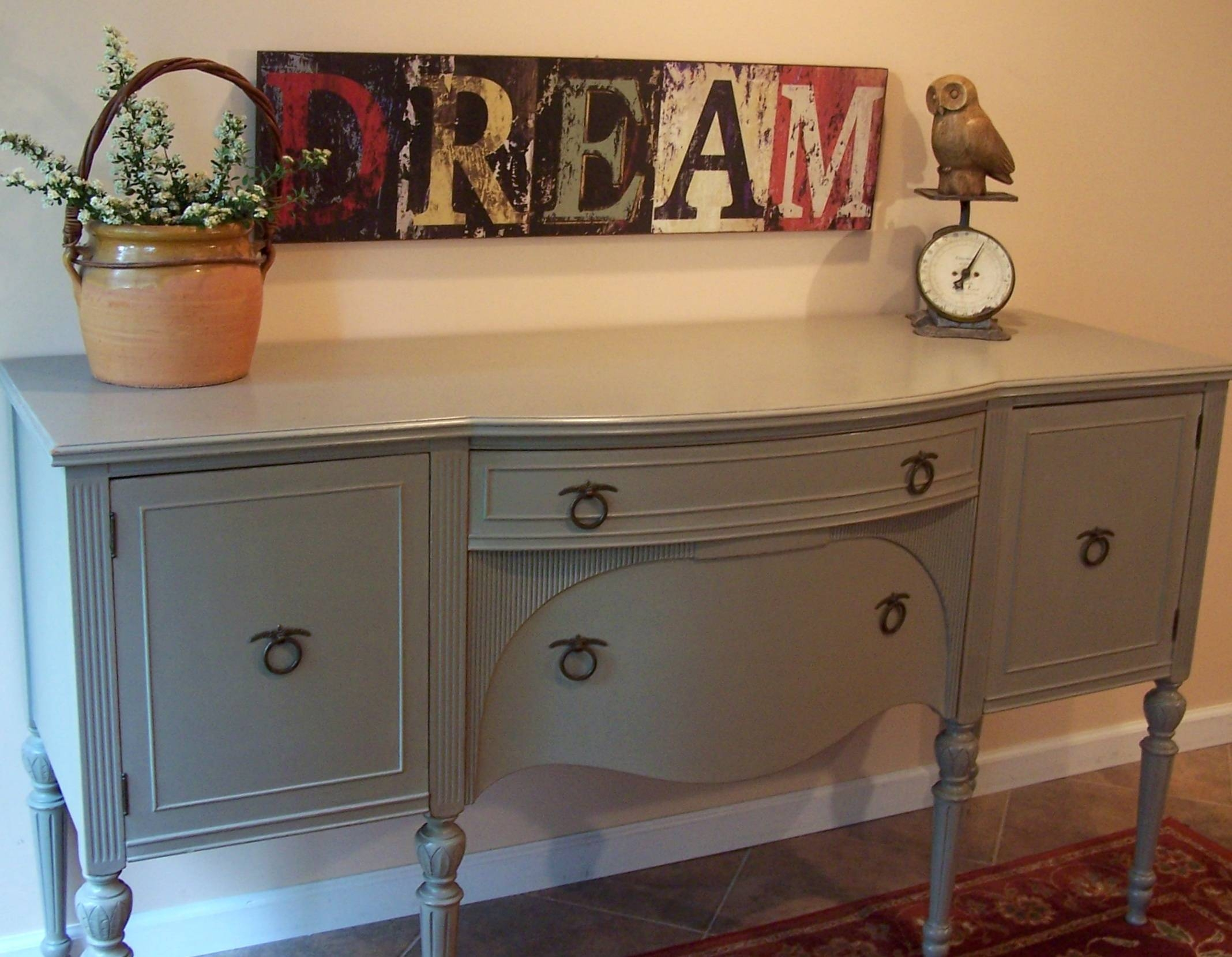 Federal Buffet In French Linen | Urban Farmhouse Finishes Pertaining To Annie Sloan Painted Sideboards (View 3 of 15)