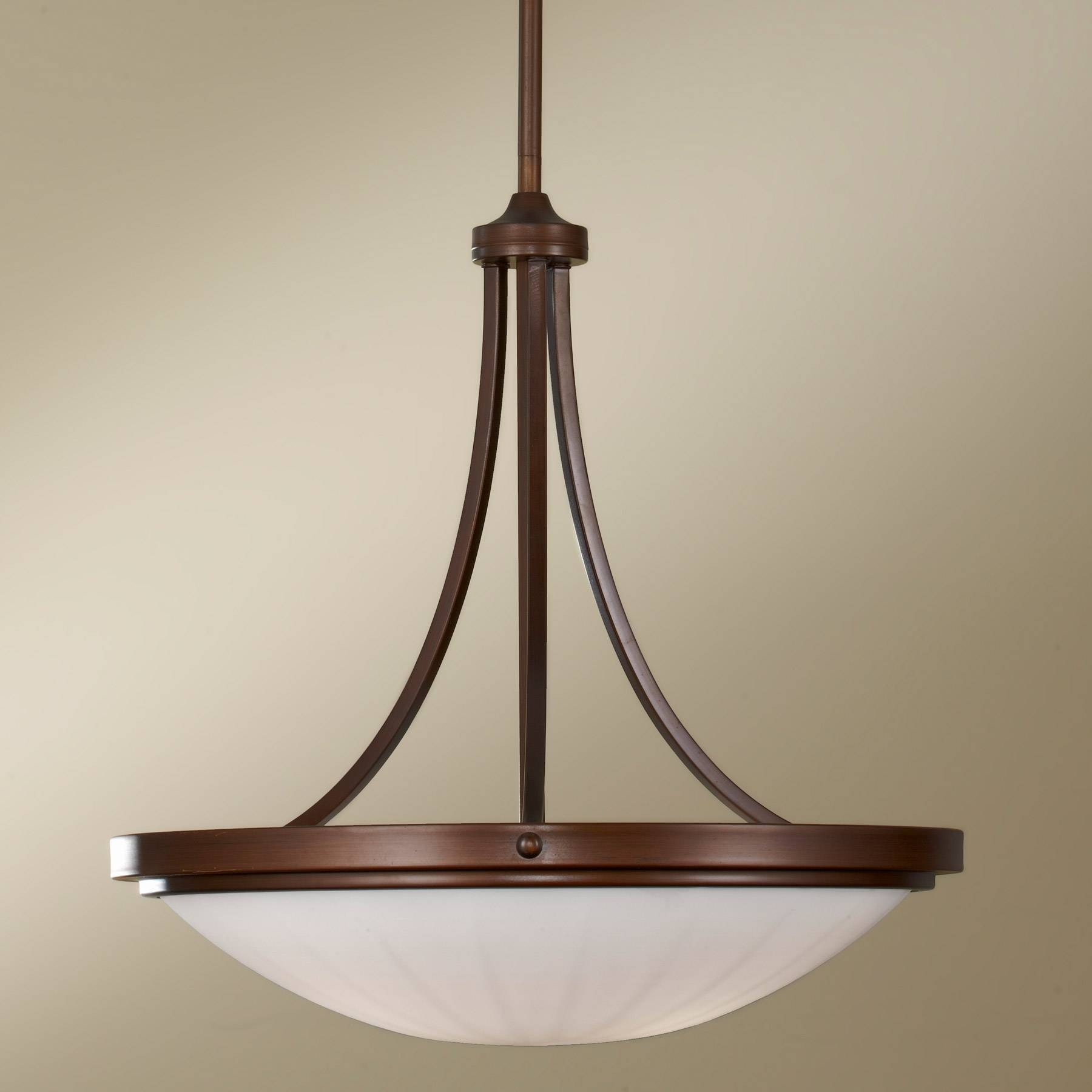Feiss F2583/3Htbz Perry Inverted Pendant inside Inverted Pendant Lighting (Image 6 of 15)