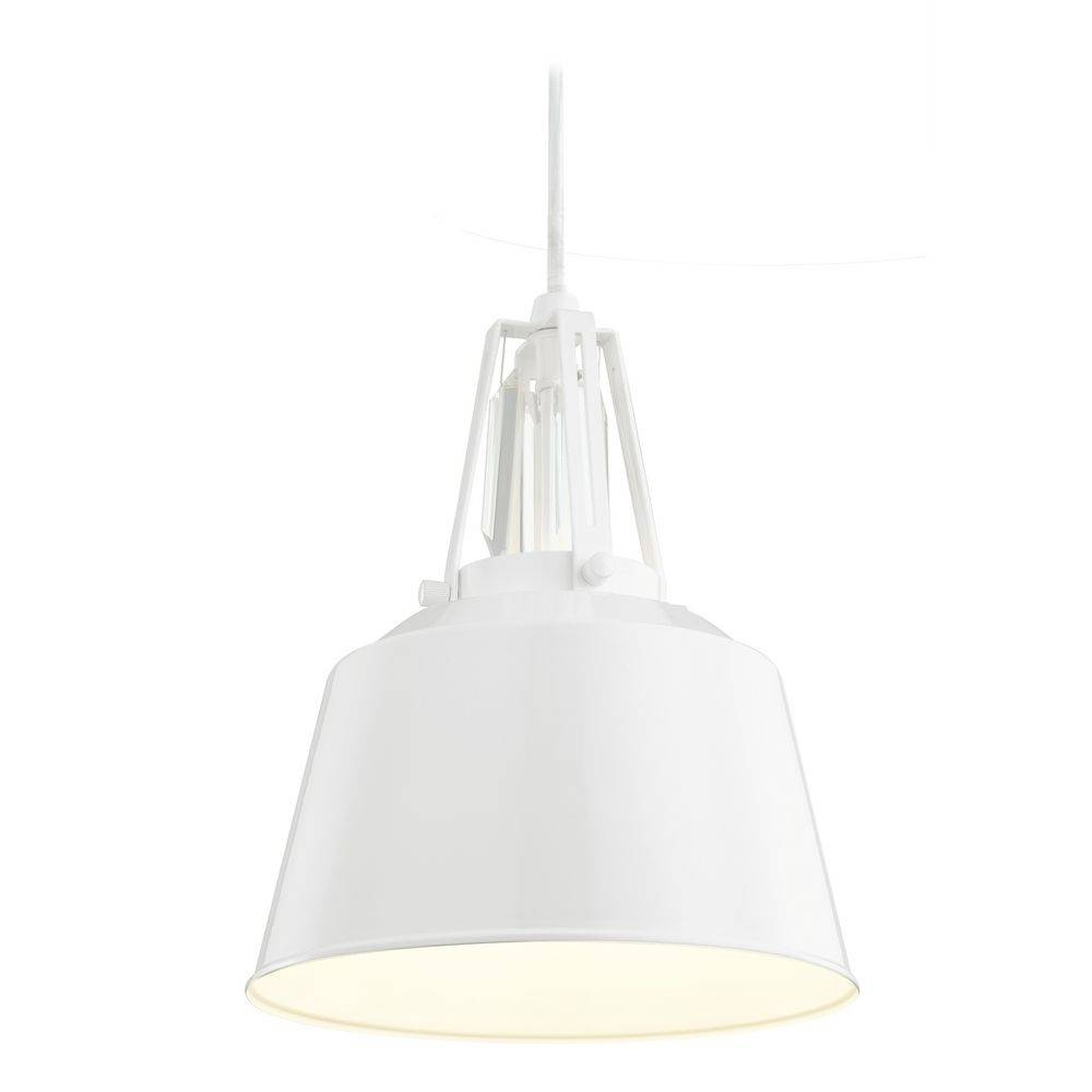 Feiss Lighting Freemont Hi Gloss White Mini-Pendant Light for White Mini Pendant Lights (Image 4 of 15)