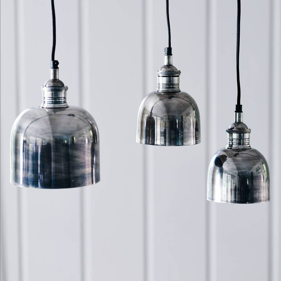 Flori Tarnished Silver Pendant Lightrowen & Wren with regard to Silver Kitchen Pendant Lighting (Image 2 of 15)