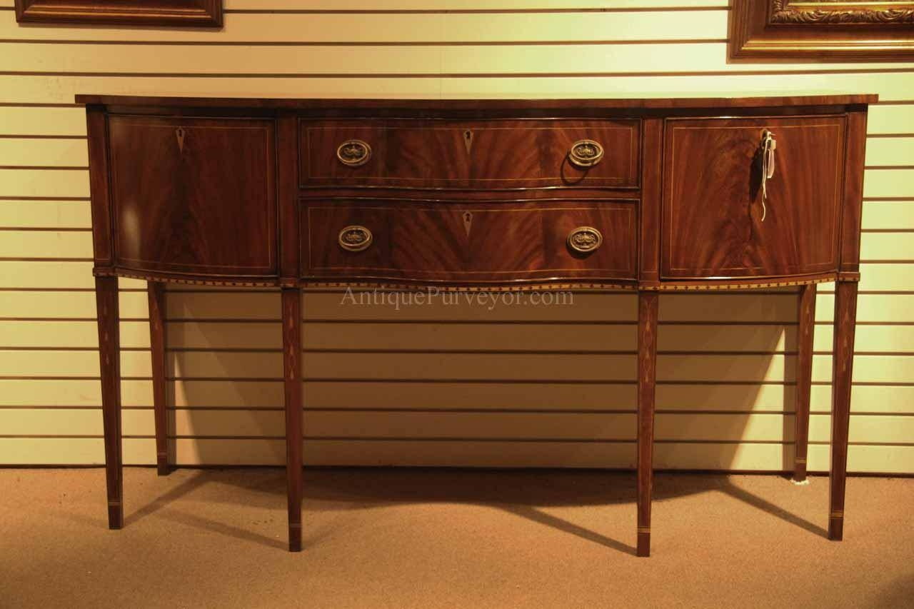 Formal Hepplewhite Style Mahogany Sideboard For The Dining Room with Mahogany Sideboards (Image 2 of 15)