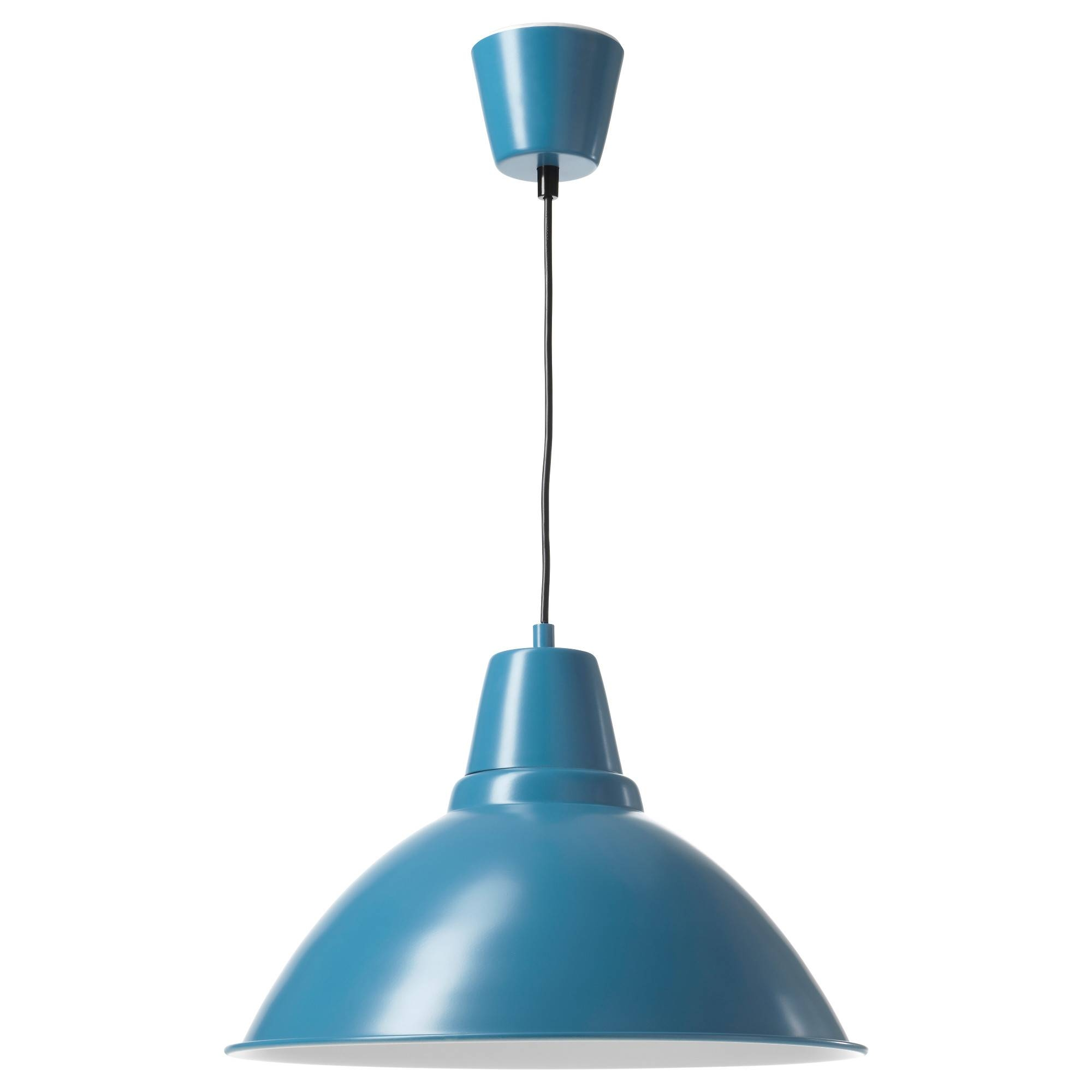 Foto Pendant Lamp Blue 38 Cm - Ikea regarding Blue Pendant Lights (Image 9 of 15)