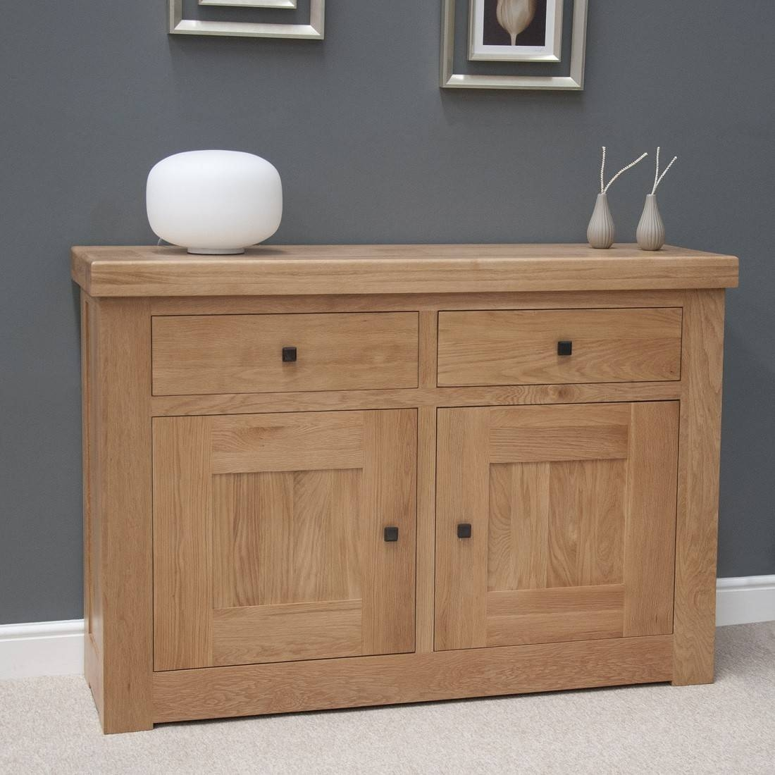 French Bordeaux Oak Small 2 Door Sideboard | Oak Furniture Uk intended for 2 Door Sideboards (Image 7 of 15)