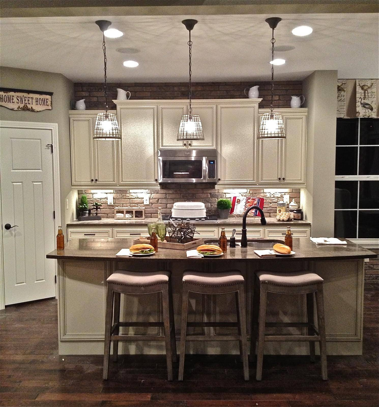 French Farmhouse Chandelier Rustic Iron Hanging Light Fixtures Inside Rustic Pendant Lighting For Kitchen (View 3 of 15)