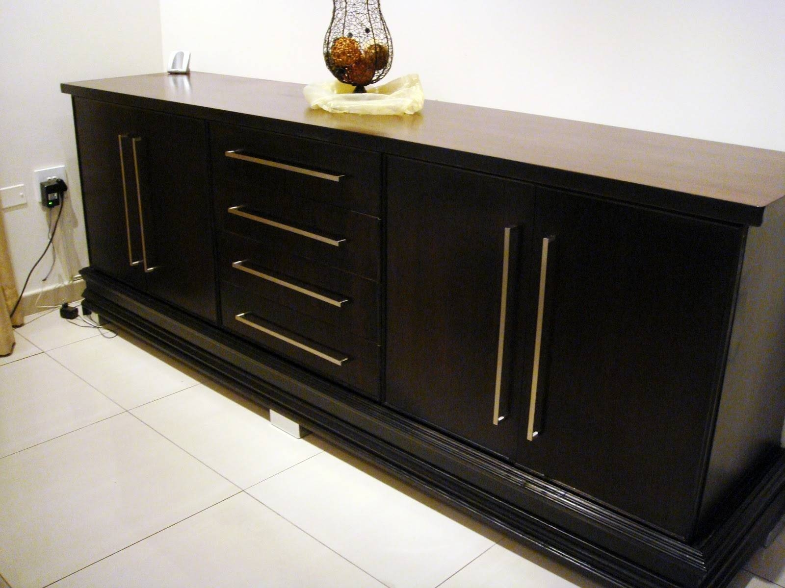Furniture: Antique Dark Sideboard Buffet With Three Drawers On for Elegant Sideboards (Image 5 of 15)