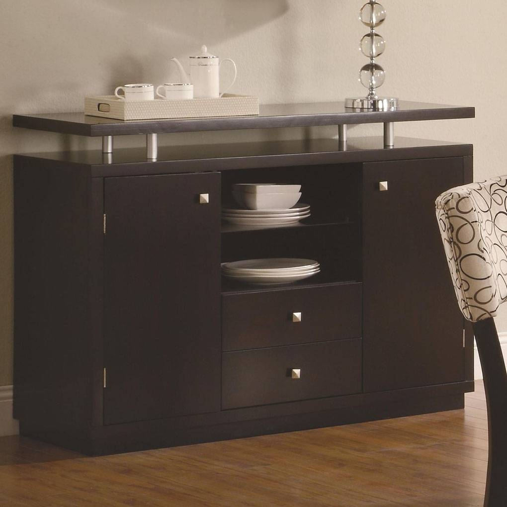 Furniture Dining Room Furniture Server Mirrored. Libby Door Dining regarding Buffet Servers And Sideboards (Image 8 of 15)