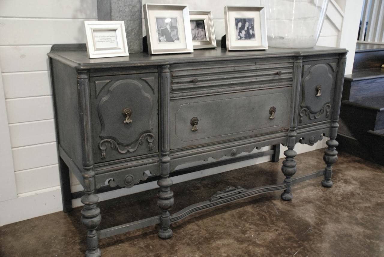 Furniture: Interesting Buffets And Sideboards For Home Furniture with regard to Painted Sideboards And Buffets (Image 6 of 15)