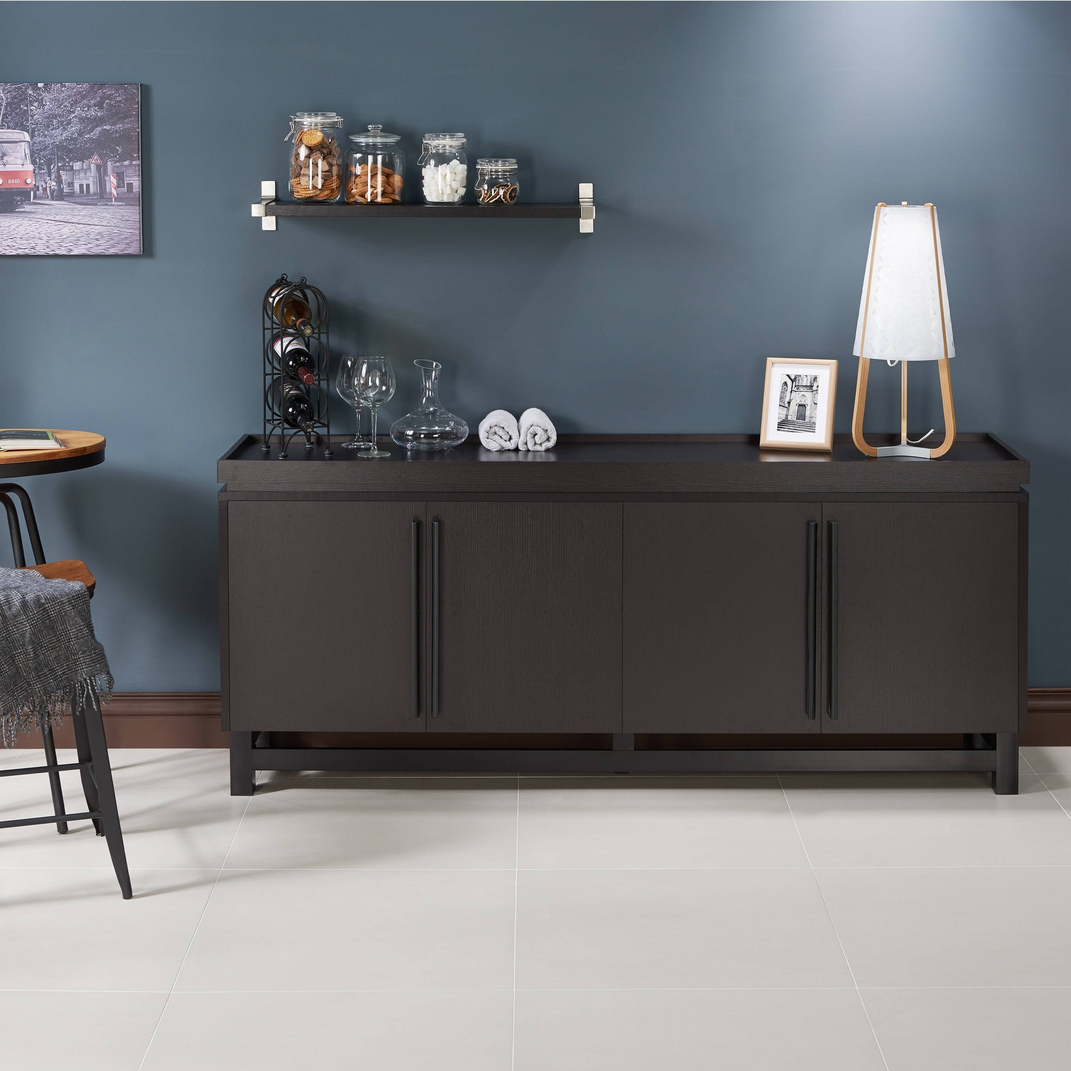 Furniture Of America Sonova Modern 70-Inch Buffet Cabinet - Free with regard to 70 Inch Sideboards (Image 3 of 15)