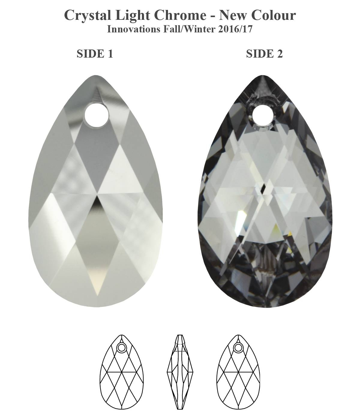 Genuine Swarovski 6106 Pear Shape Crystal Teardrop Pendants * All inside Crystal Teardrop Pendant Lights (Image 6 of 15)
