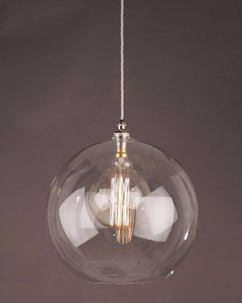 Glass Globe Ceiling Pendant Light, Hereford Retro & Contemporary inside Clear Globe Pendant Lights (Image 5 of 15)