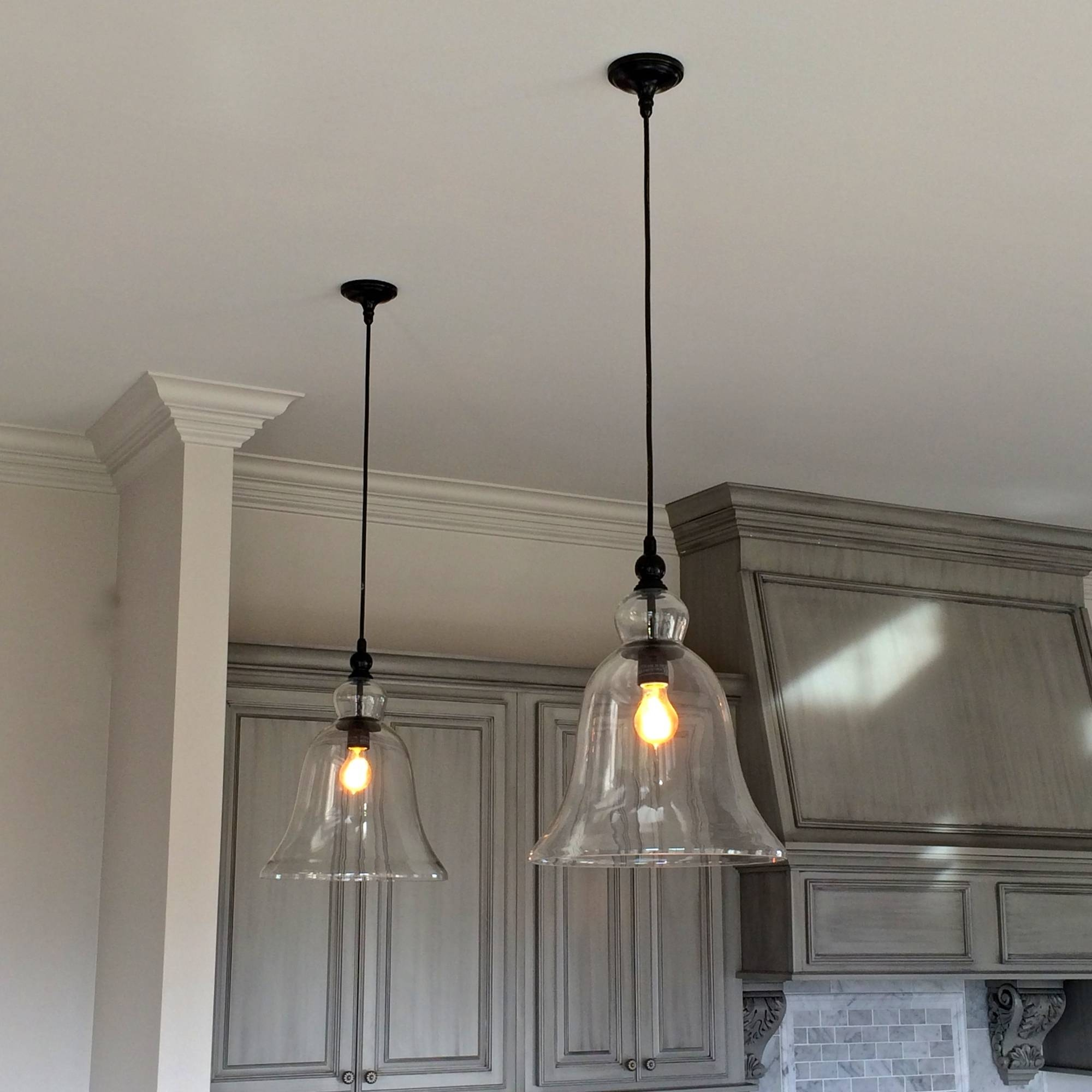 Glass Lighting Wood Clear Kitchen Industrial Pendant Lights Ideas throughout Industrial Glass Pendant Lights (Image 4 of 15)