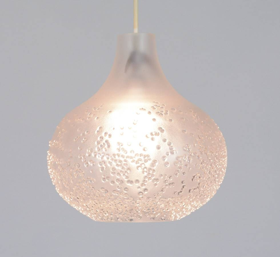 Glass Pendant Lamppeill & Putzler – Vintage Design Point Within Etched Glass Pendant Lights (View 4 of 15)