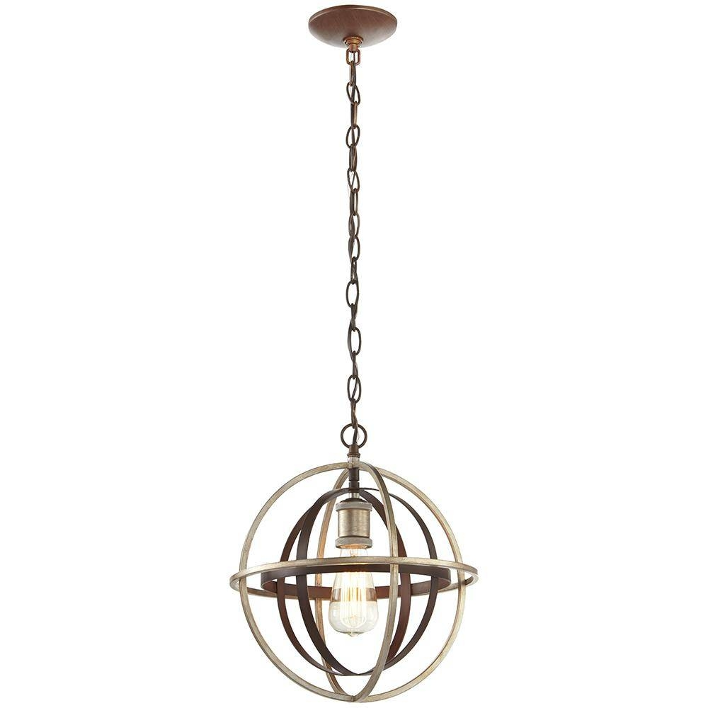 Globe – Pendant Lights – Lighting – The Home Depot Intended For Bronze Globe Pendant Lights (View 7 of 15)
