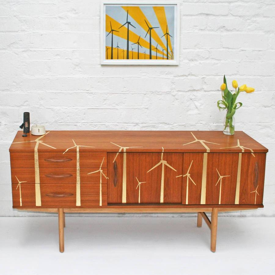 Gold Leaf 'wind Farm' Mid Century Sideboardscout & Boo regarding Midcentury Sideboards (Image 4 of 15)