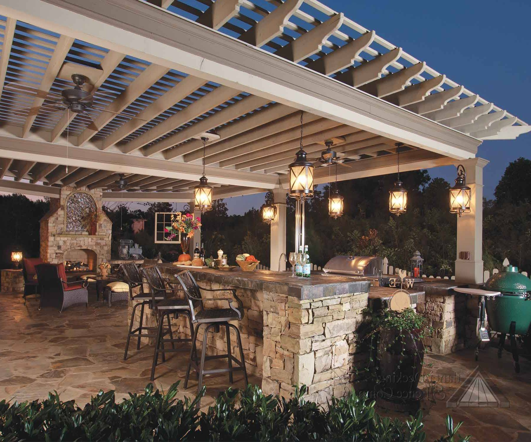 Gorgeous Outdoor Kitchen Lighting Fixtures On House Design Ideas intended for Outside Pendant Lights (Image 2 of 15)