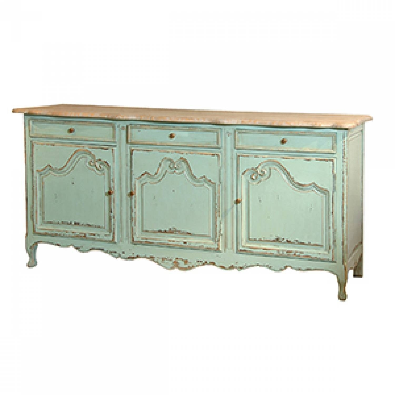 Green Distressed Sideboard In Display Units & Dressers pertaining to Green Sideboards (Image 2 of 15)