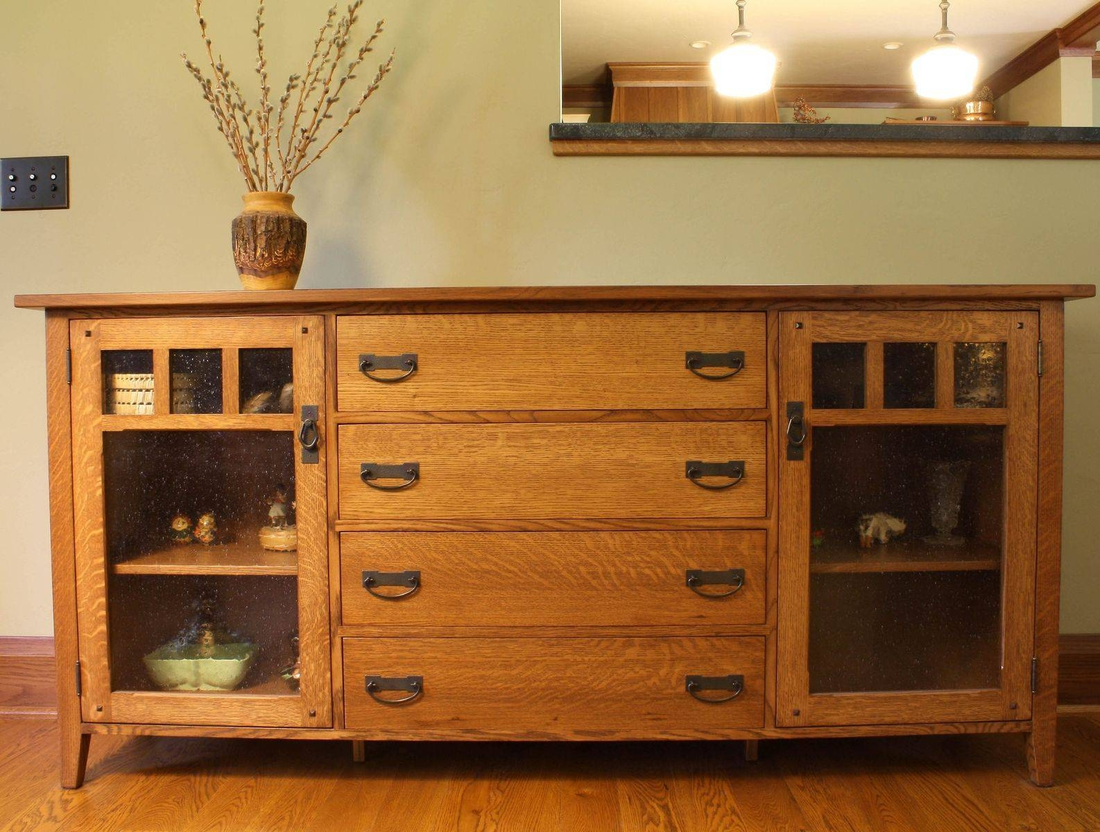 Hand Made Arts & Crafts Sideboardmontana Cabinet & Canoe for Montana Sideboards (Image 2 of 15)