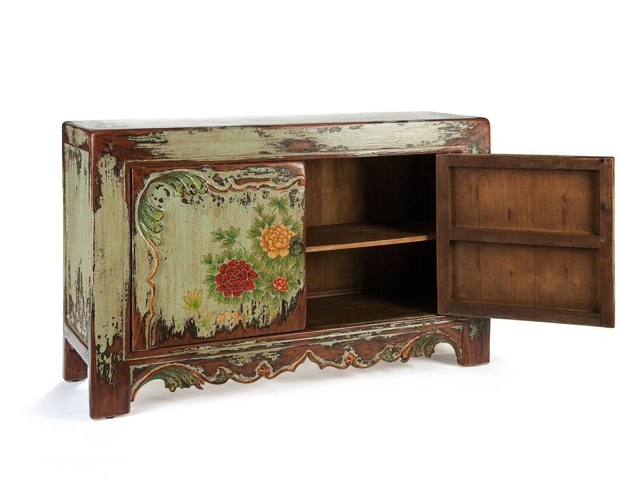 Hand Painted Sideboard - Solid Wooden Furniture - Puji throughout Hand Painted Sideboards (Image 5 of 15)