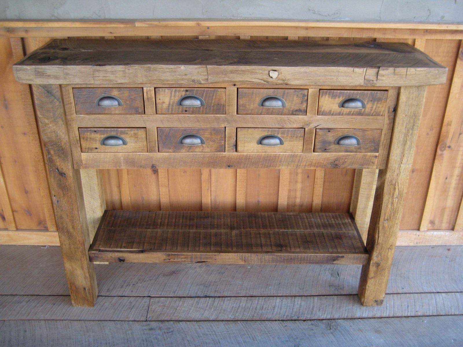 Handmade Reclaimed Chestnut Islands/buffetsunique Custom pertaining to Unique Sideboards And Buffets (Image 3 of 15)