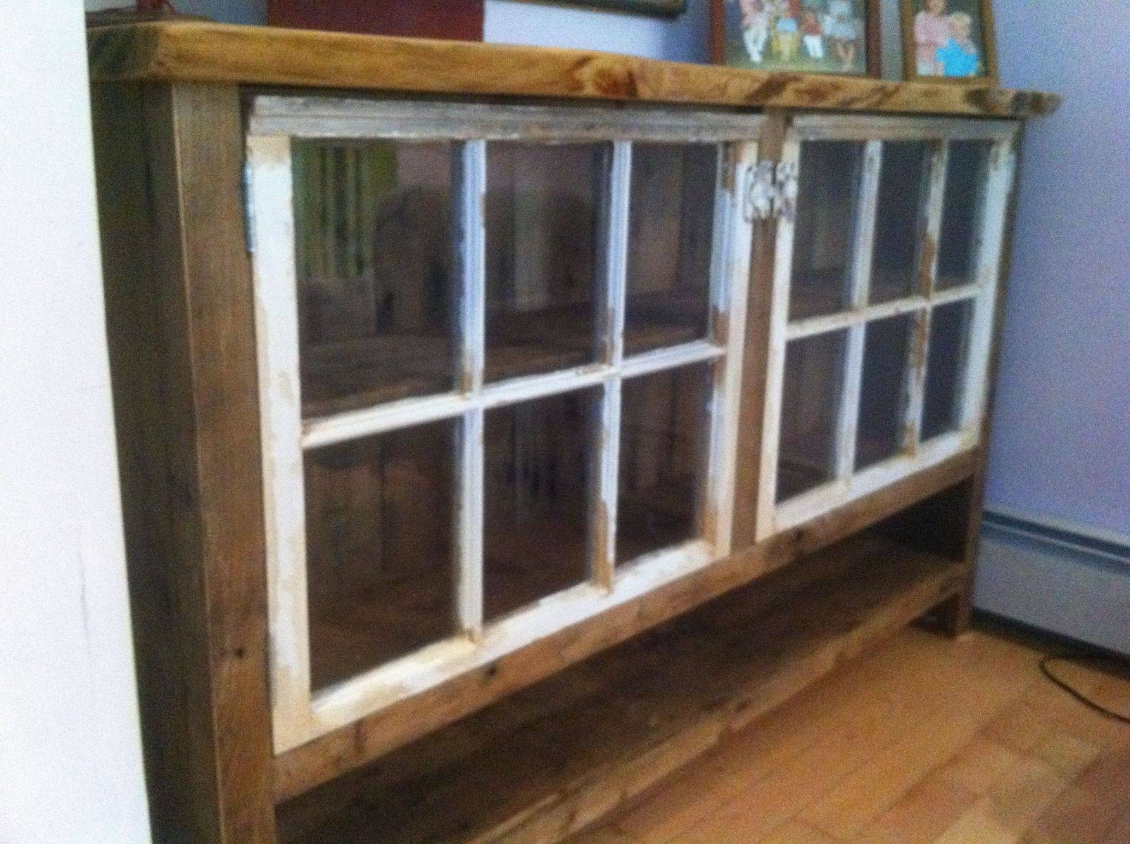 Handmade Reclaimed Wood Sideboard With Recycled Windowswooden pertaining to Reclaimed Wood Sideboards (Image 3 of 15)