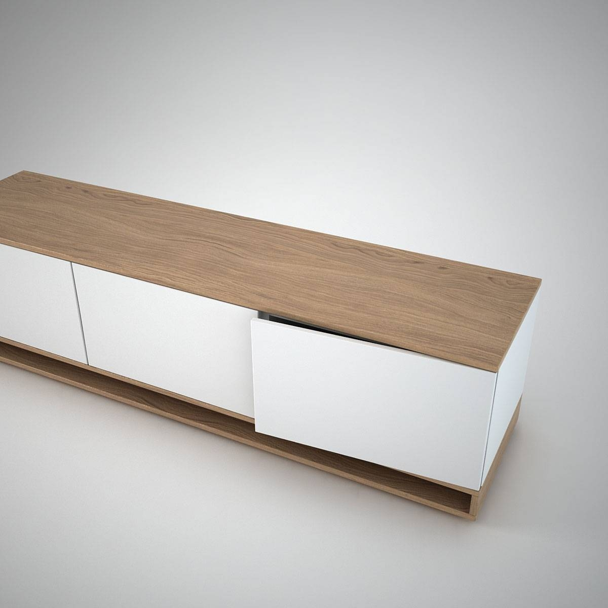 Harlem Low Sideboard (3) White - Join Furniture for Small Low Sideboards (Image 8 of 15)