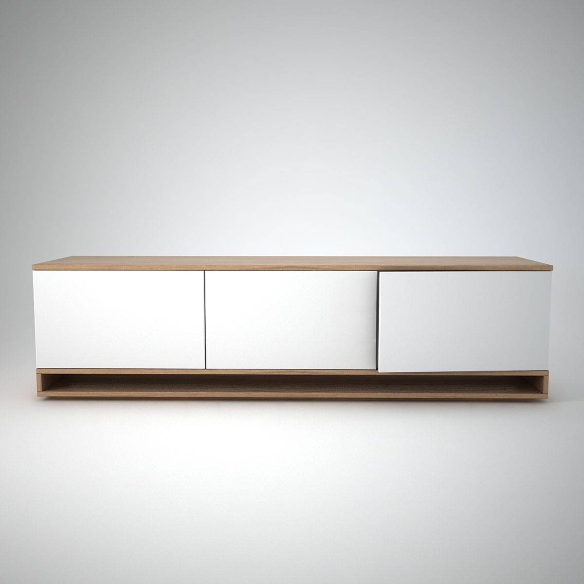 Harlem Low Sideboard (3) White - Join Furniture intended for Small Low Sideboards (Image 9 of 15)