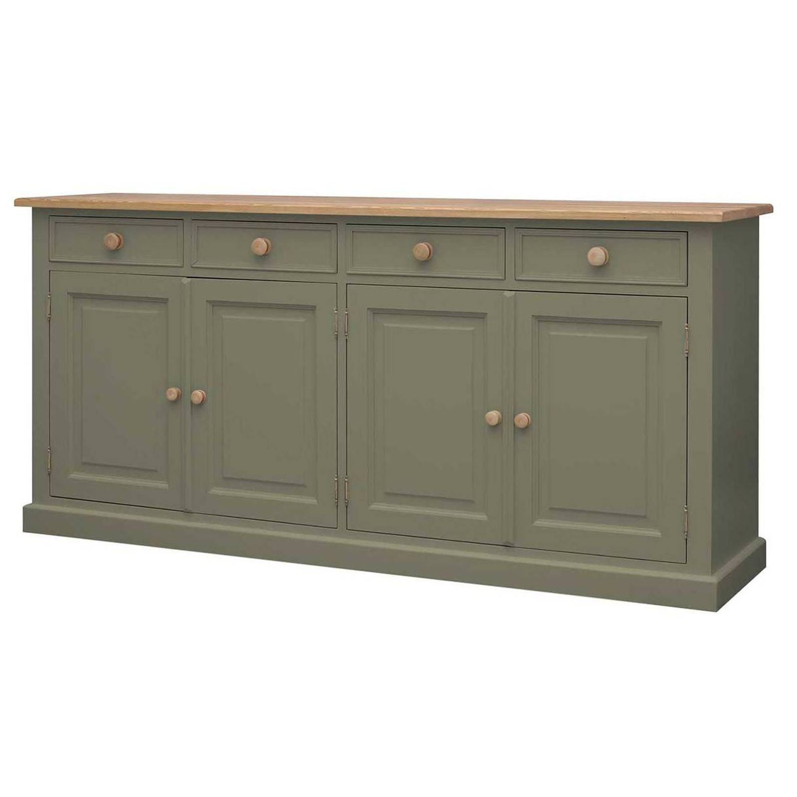 Harrogate Green Painted Pine Furniture Extra Large Sideboard Pertaining To Pine Sideboards (View 6 of 15)