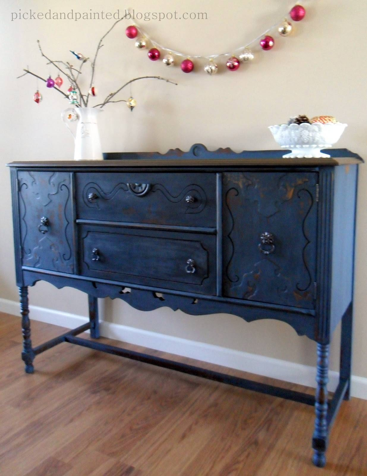 Helen Nichole Designs: Soldier Blue Buffet Intended For Blue Buffet Sideboards (View 11 of 15)