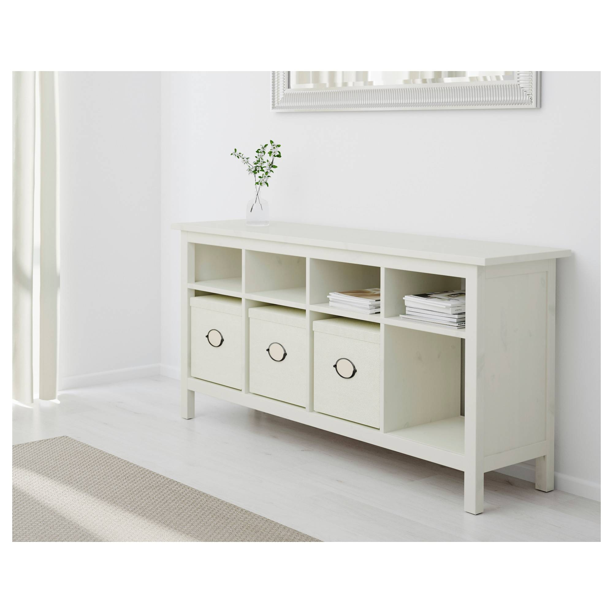 Hemnes Console Table White Stain 157x40 Cm – Ikea Pertaining To Hemnes Sideboards (View 10 of 15)