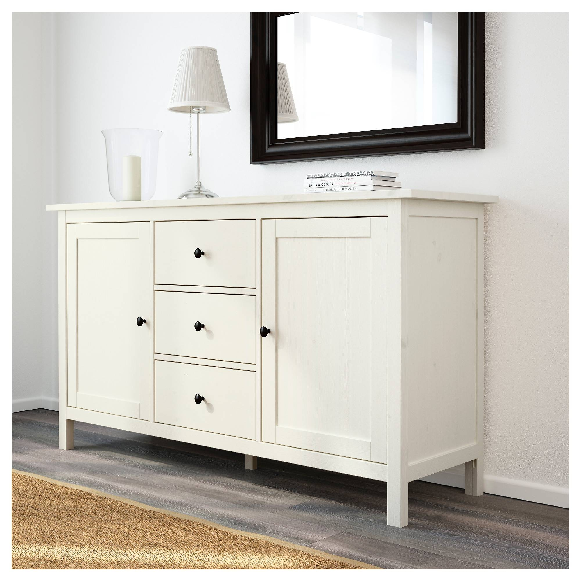 Hemnes Sideboard White Stain 157X88 Cm – Ikea For Sideboards And Tables (View 7 of 15)