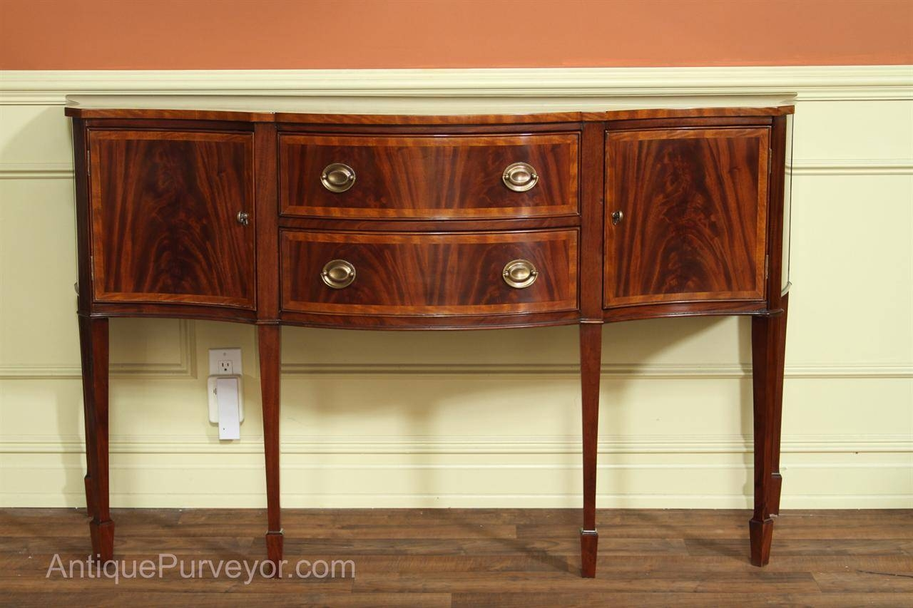 Hepplewhite Or Federal Sideboard, High End Furniture regarding Mahogany Sideboards Buffets (Image 3 of 15)