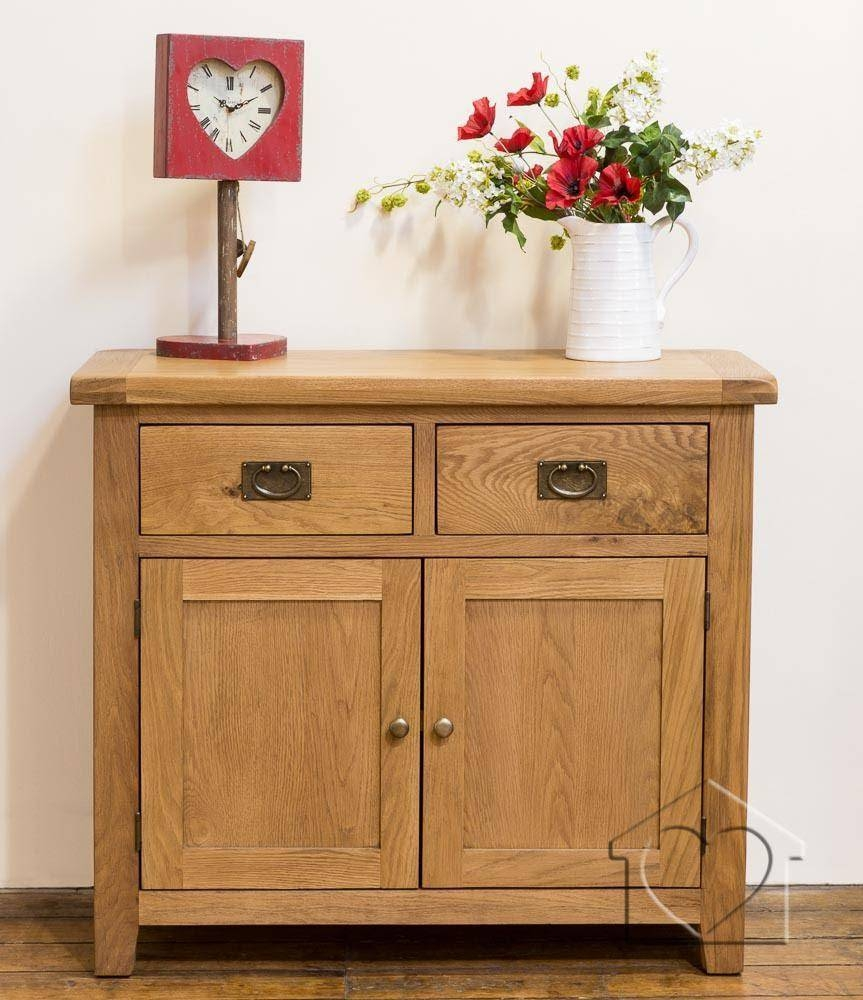Heritage Rustic Oak 2 Door Sideboard - £299.00 - A Fantastic Range pertaining to Rustic Sideboard Furniture (Image 7 of 15)