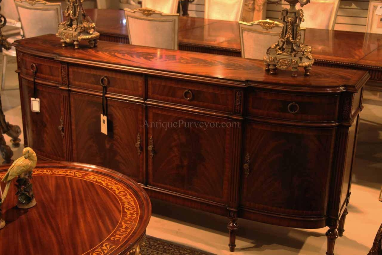 High End Antique Reproduction Dining Room Sideboard for Mahogany Sideboards (Image 5 of 15)