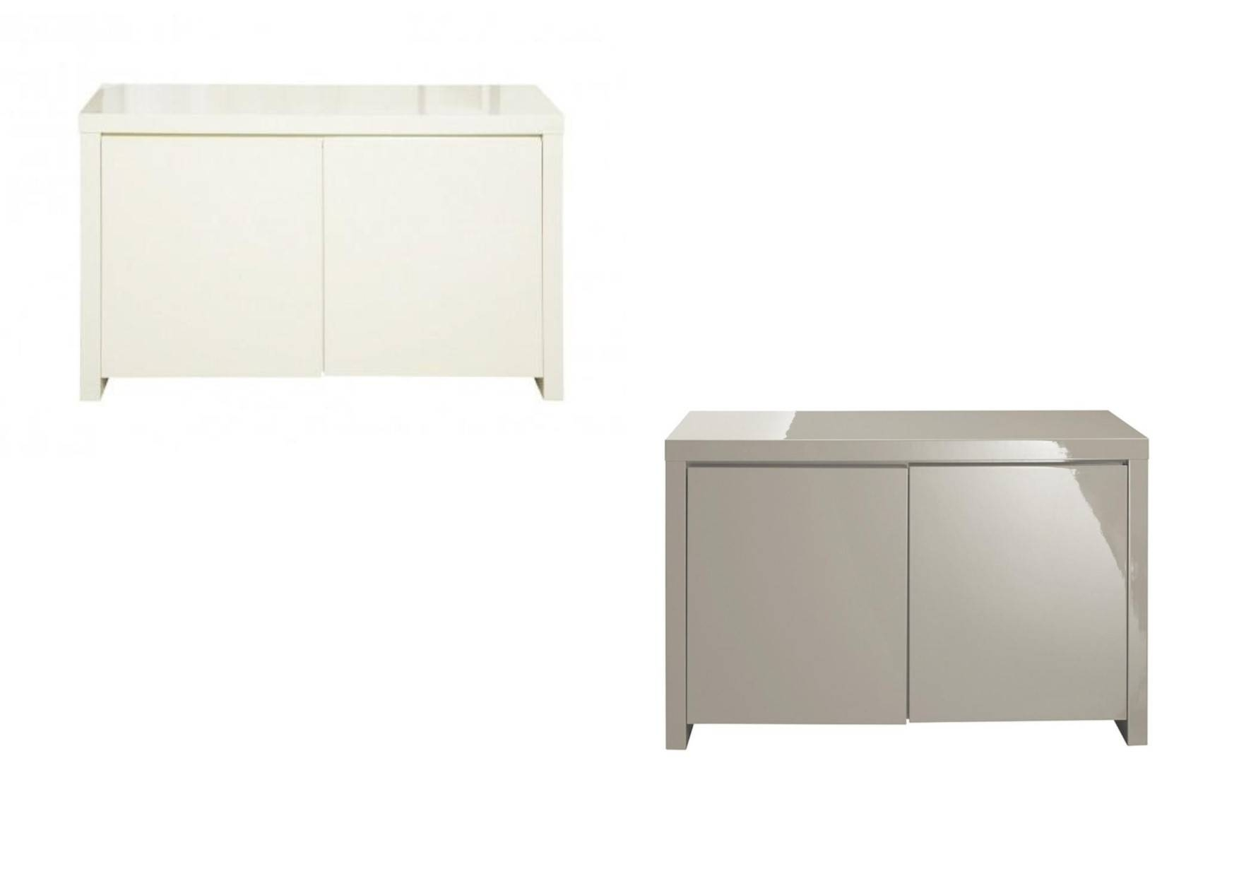 High Gloss Cream Or Stone 2 Door Sideboard For High Gloss Cream Sideboards (View 12 of 15)