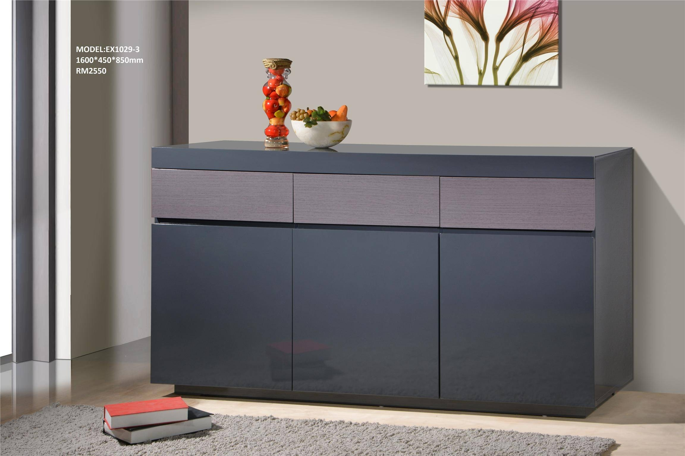 High Gloss Sideboard (Ex1029-3) (End 7/3/2016 4:15 Pm) throughout Gloss Sideboard Furniture (Image 6 of 15)