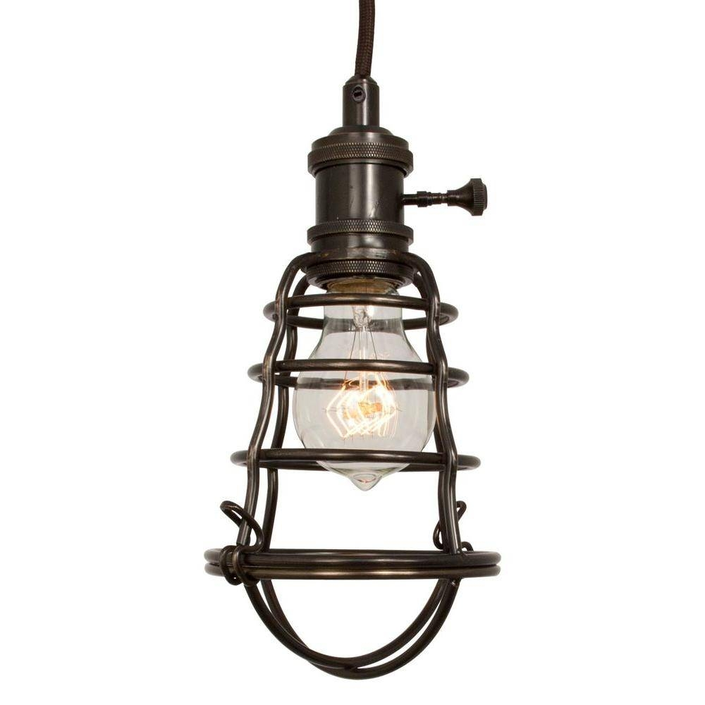 Home Decorators Collection 1-Light Aged Bronze Cage Pendant-25415 with Bronze Cage Pendant Lights (Image 10 of 15)