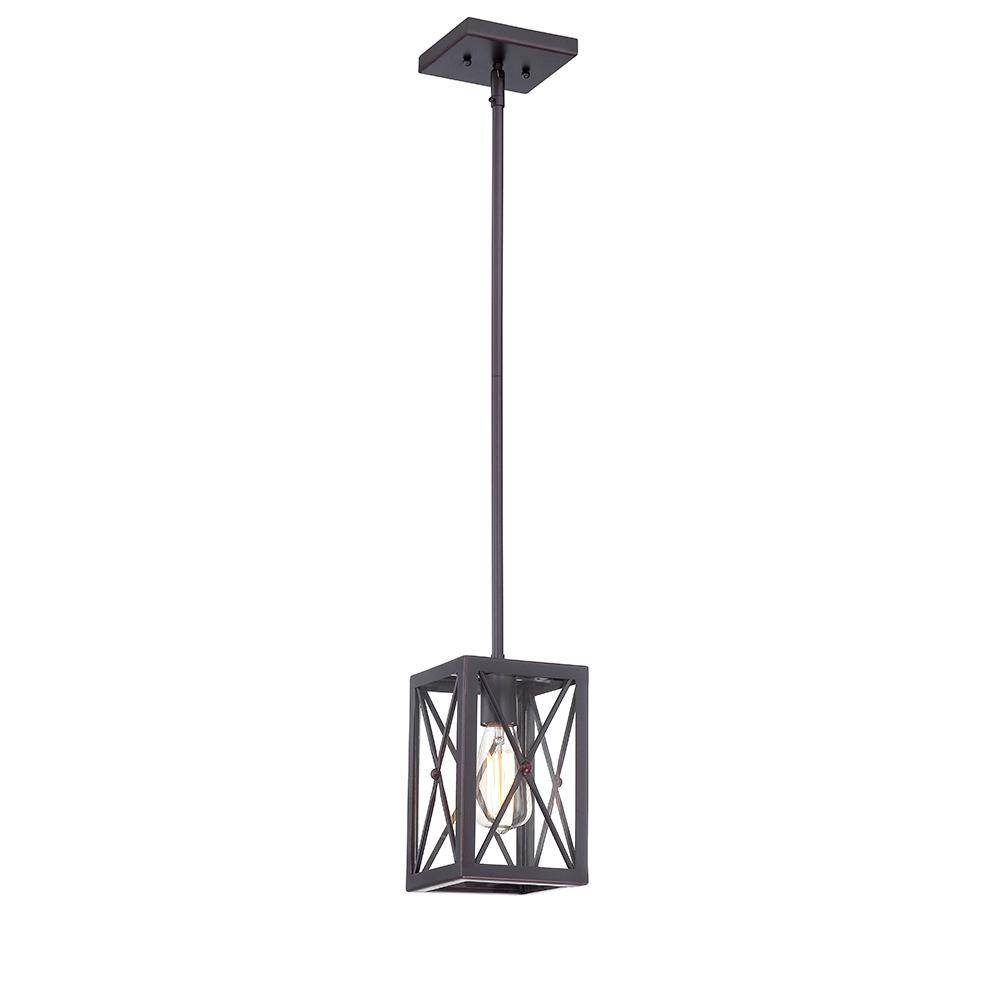 Home Decorators Collection 1-Light Royal Bronze Mini-Pendant With regarding White Mini Pendant Lights (Image 8 of 15)