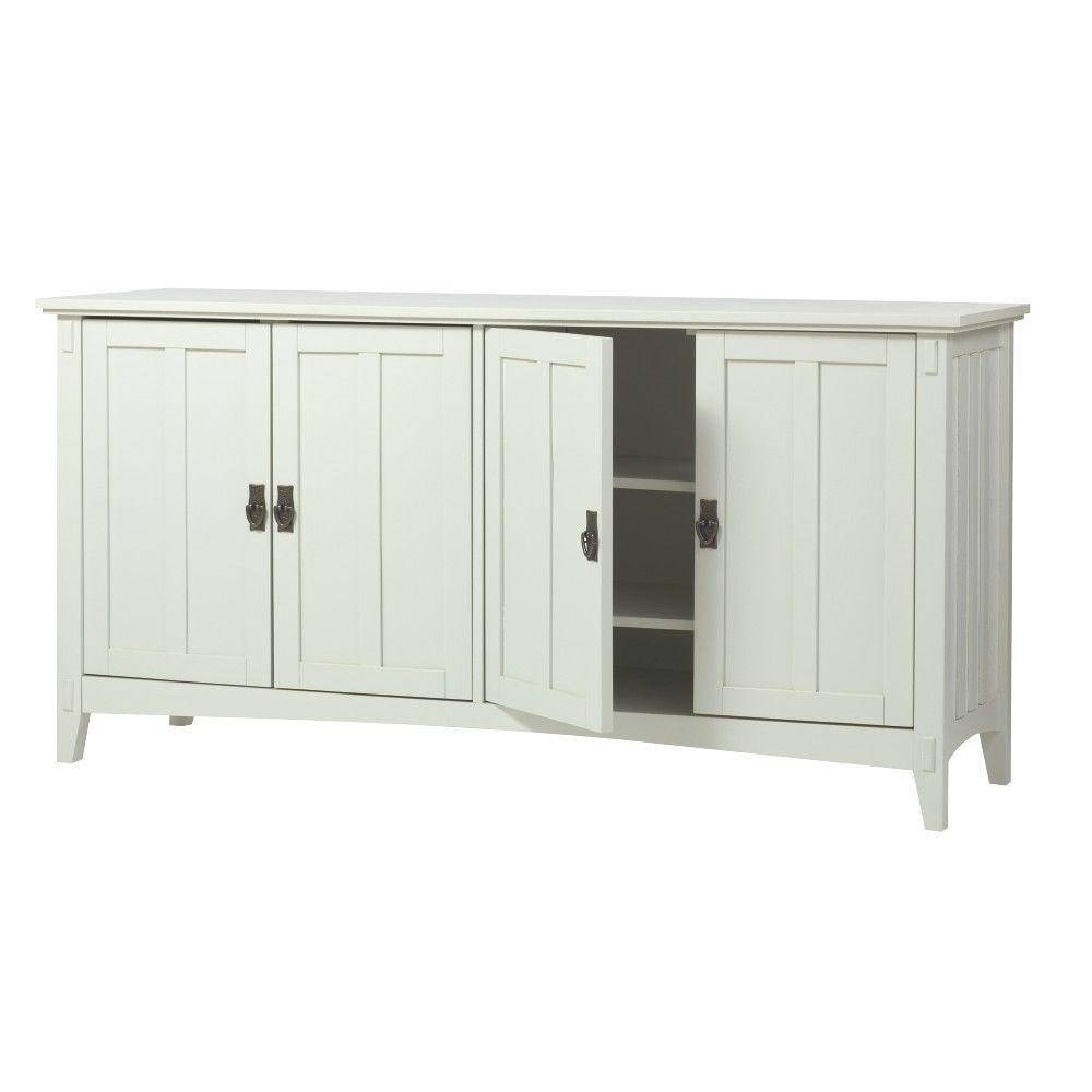 Home Decorators Collection Artisan White Buffet Sk18514 W – The Within White Sideboard Tables (View 3 of 15)