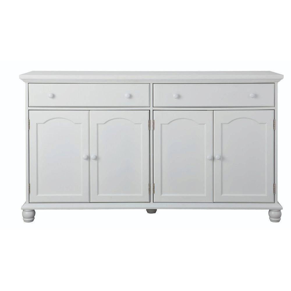 Home Decorators Collection Harwick Antique White Buffet Bf 23034 Within White Sideboard Tables (View 6 of 15)