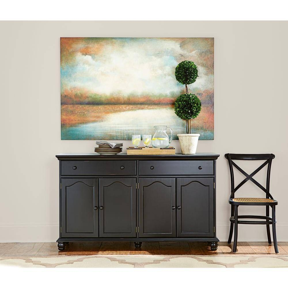Home Decorators Collection Harwick Black Buffet-Bf-23034-Bl - The with Black Buffet Sideboards (Image 8 of 15)