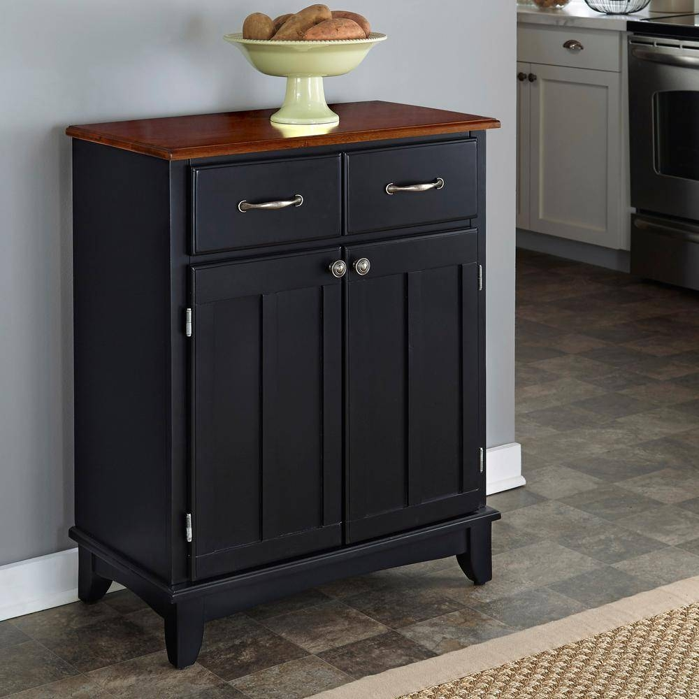 Home Styles Black And Cherry Buffet With Storage 5001 42 – The In Kitchen Sideboards Buffets (View 13 of 15)