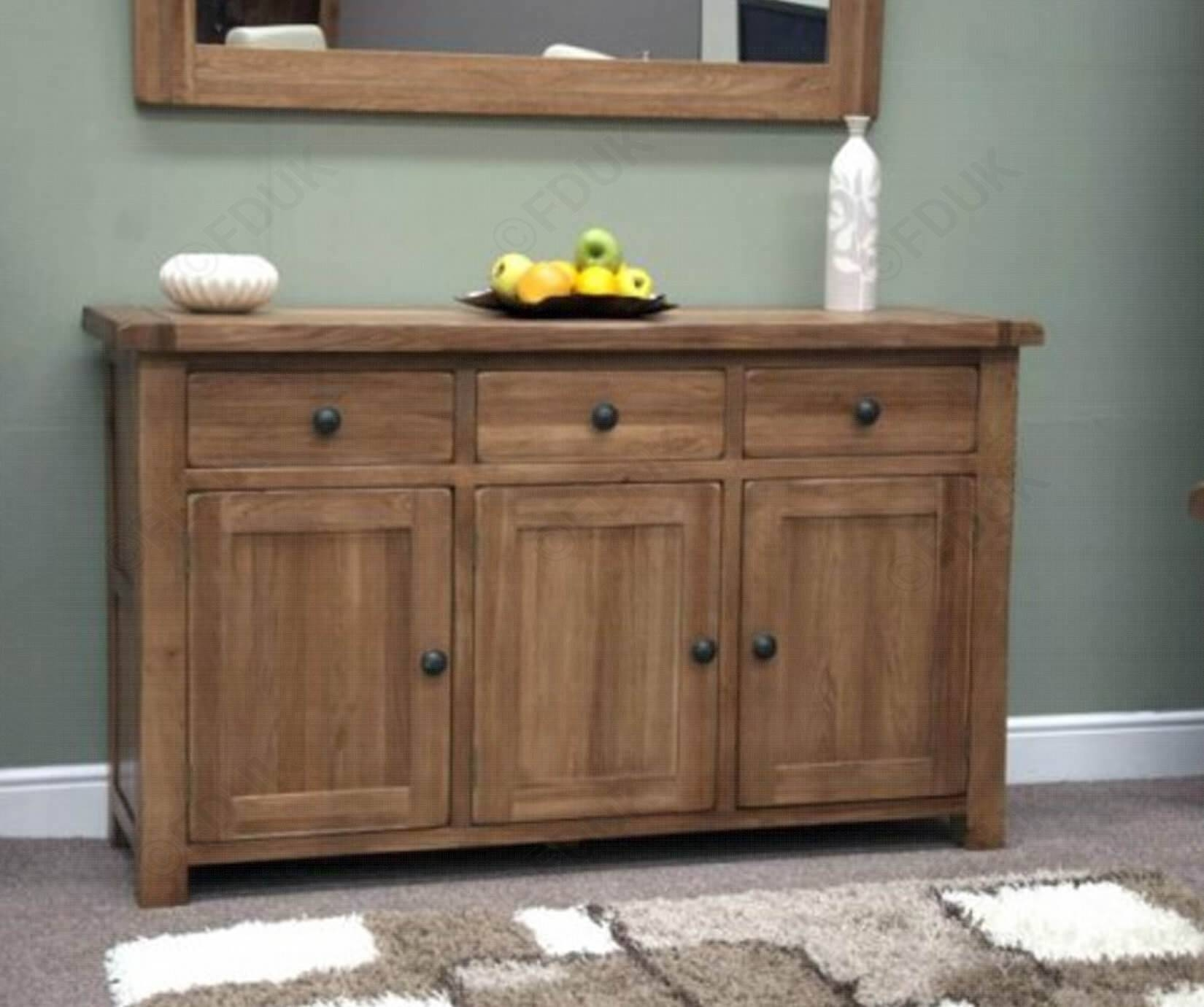 Featured Photo of Rustic Oak Large Sideboards