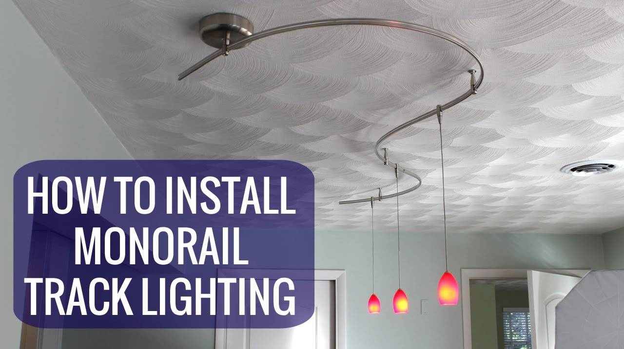 How To Install A Monorail Track Lighting System - Youtube inside Pendant Lighting for Track Systems (Image 5 of 15)