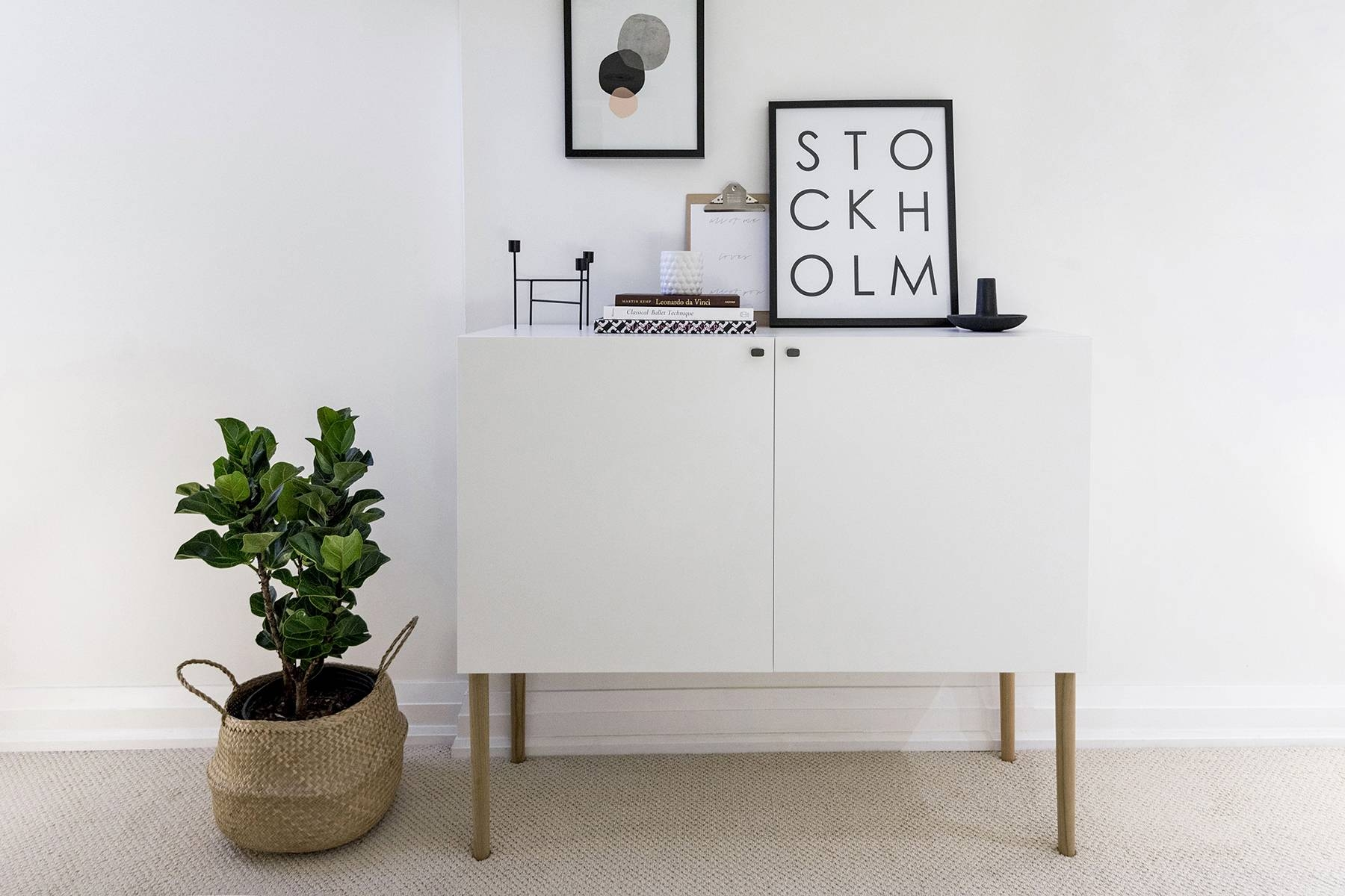 Ikea Besta Hack: Scandinavian Sideboard Cabinet | Happy Grey Lucky pertaining to Ikea Besta Sideboards (Image 9 of 15)