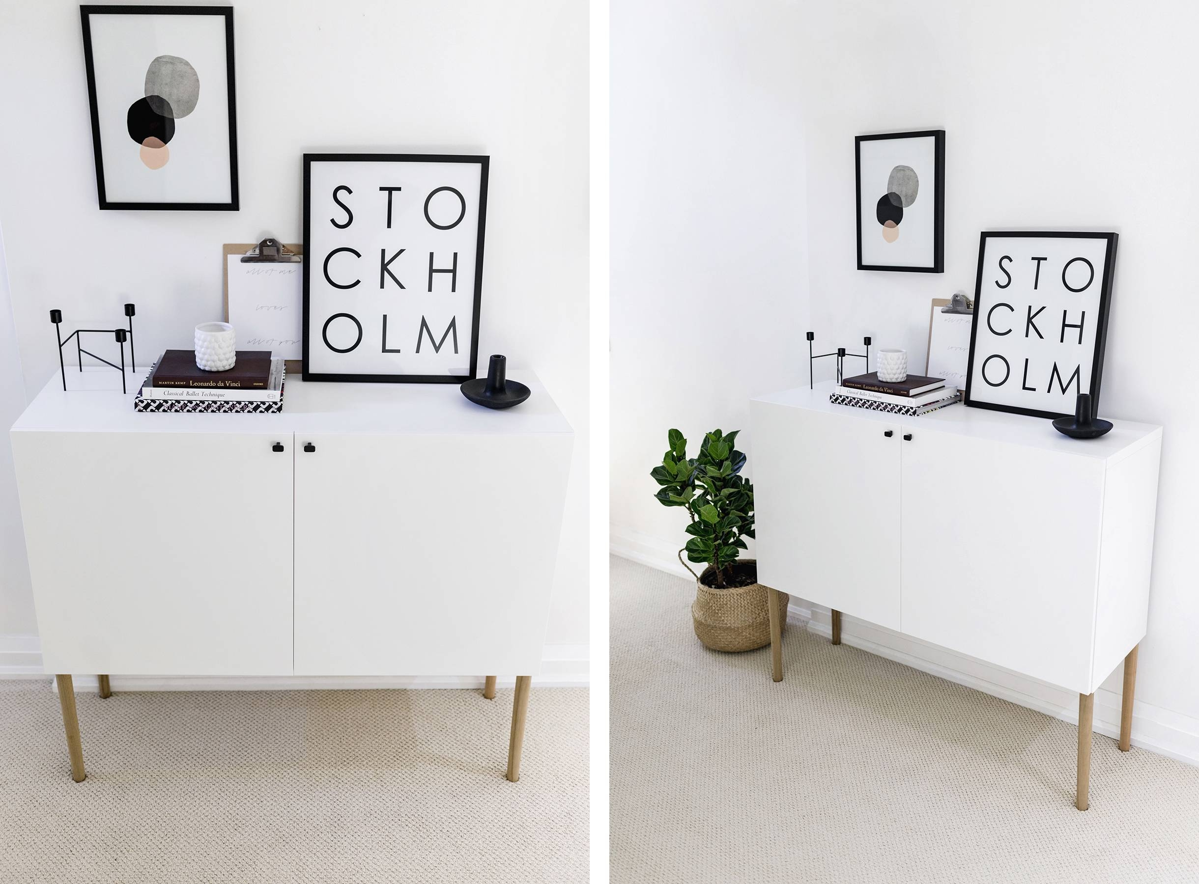 Ikea Besta Hack: Scandinavian Sideboard Cabinet | Happy Grey Lucky regarding Ikea Besta Sideboards (Image 9 of 15)