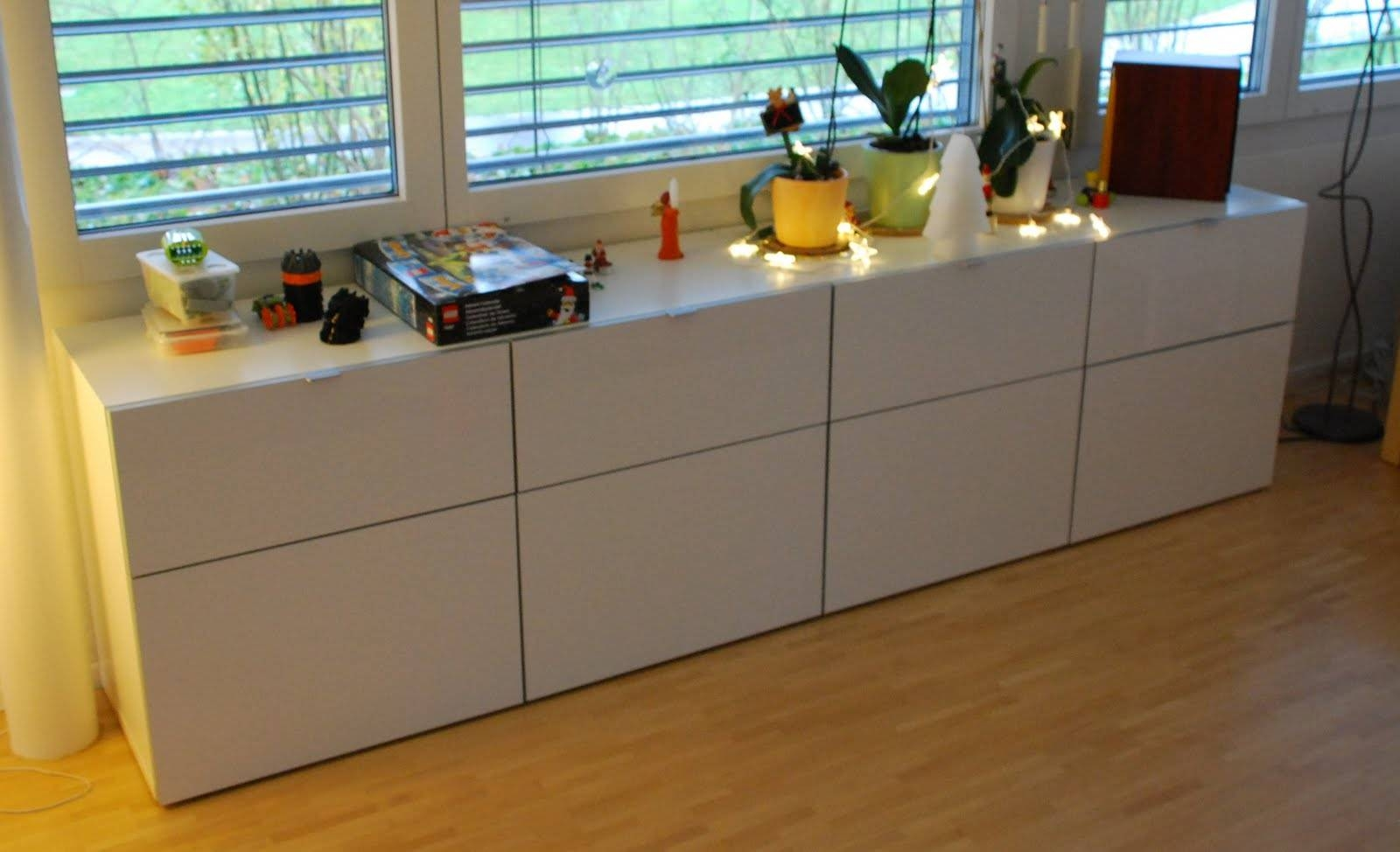 Ikea Besta Storage Combination White Concrete Furniture Ideas with regard to Ikea Besta Sideboards (Image 10 of 15)