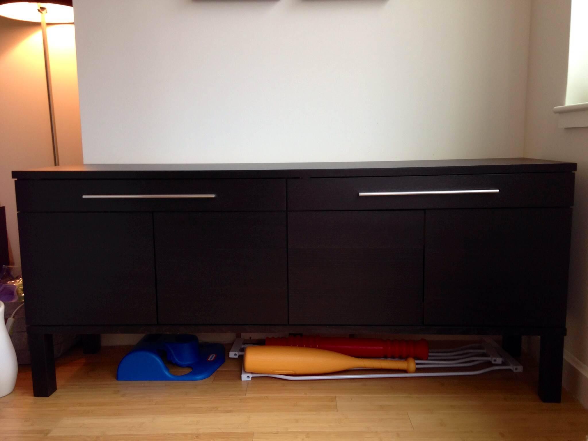 Ikea Bjursta Sideboard Dining Storage, Dark Brown – $100 | Too Big for Bjursta Sideboards (Image 6 of 15)