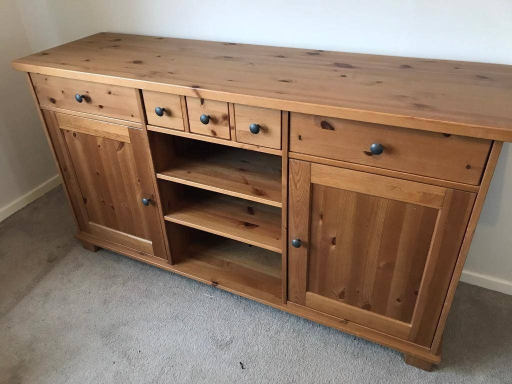 Ikea Hemnes Sideboard Draws Cupboard Pine Solid Wood | In Burbage intended for Ikea Hemnes Sideboards (Image 10 of 15)