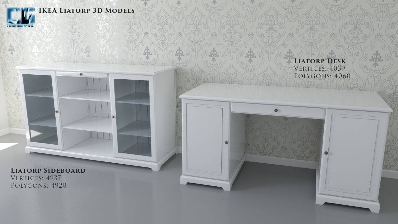 Ikea Liatorp Sideboard Desk with regard to Liatorp Sideboards (Image 6 of 15)