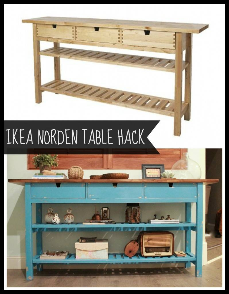 Ikea Norden Sideboard And Repurpose Transform Table For 2017 Inside Ikea Norden Sideboards (Photo 12 of 15)